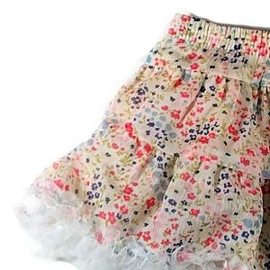 Multi-tier ruffled circle skirt